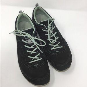 ECCO Biome black suede blue walking sneakers 41